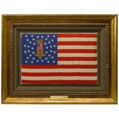 38-Star Antique Grand Army of the Republic American Flag, Silk, circa 1885