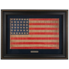 38-Star Antique Printed American Flag, circa 1876-1890