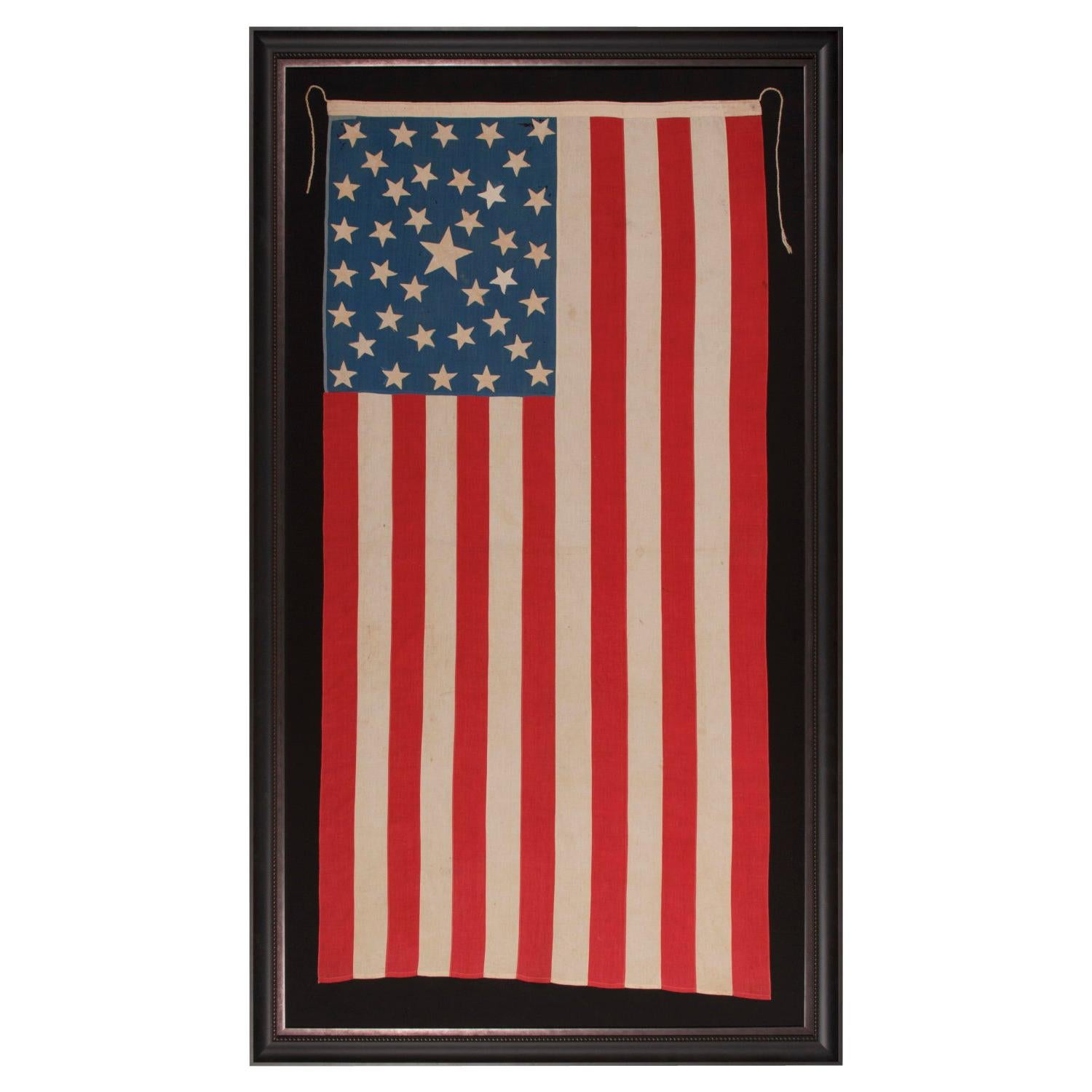 38 Star American Flag w/ a Southern Cross in the Canton, Colorado Statehood
