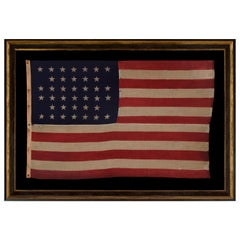 38 Stars American Flag Made by U.S Bunting Company, Lowell, Massachusetts