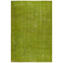 Green Color Vintage Rug for Modern Home or Office Decor