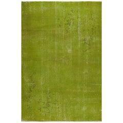 Green Color Vintage Rug for Modern Home or Office Decor