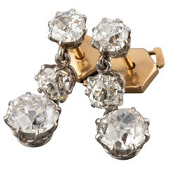 3.80 Carat Diamonds Antique Diamonds Earrings