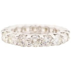 3.80 Carat Diamond Eternity Band White Gold