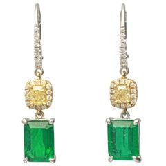 Diamond Lever-Back Earrings