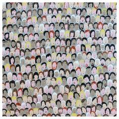 '382 Followers' Portrait Painting by Alan Fears Folk Art Pop Art