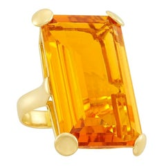 38.25 Carat Citrine Gold Ring
