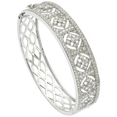 3.84 Carat Diamond Bangle