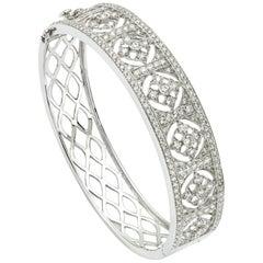 3.84 Carat Diamond Bangle