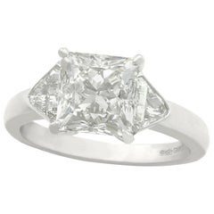 3.86 Carat Diamond and Platinum Engagement Ring