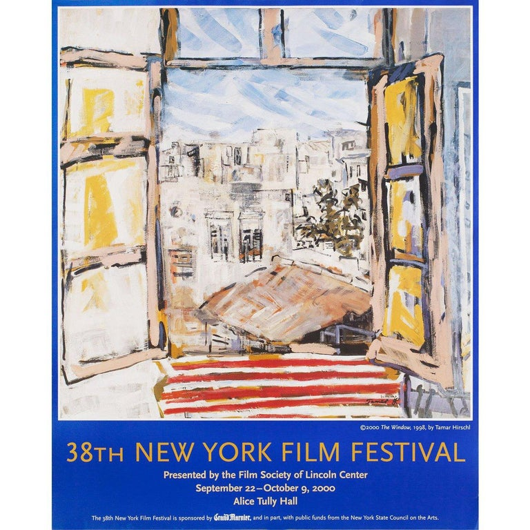 Original 2000 U.S. poster by Tamar Hirschl for the 1963 festival New York Film Festival. Very good fine condition, rolled. Please note: the size is stated in inches and the actual size can vary by an inch or more.