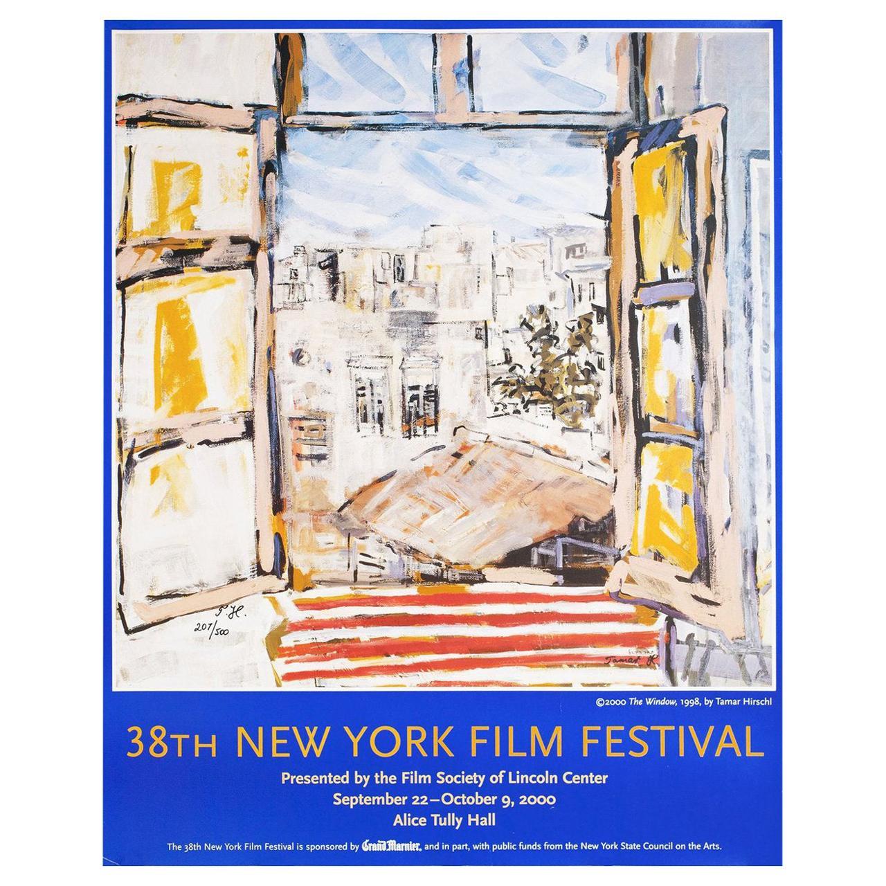 38th New York Film Festival 2000 U.S. Poster Signed