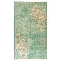 Vintage Art Deco Chinese Design Rug in Green Color