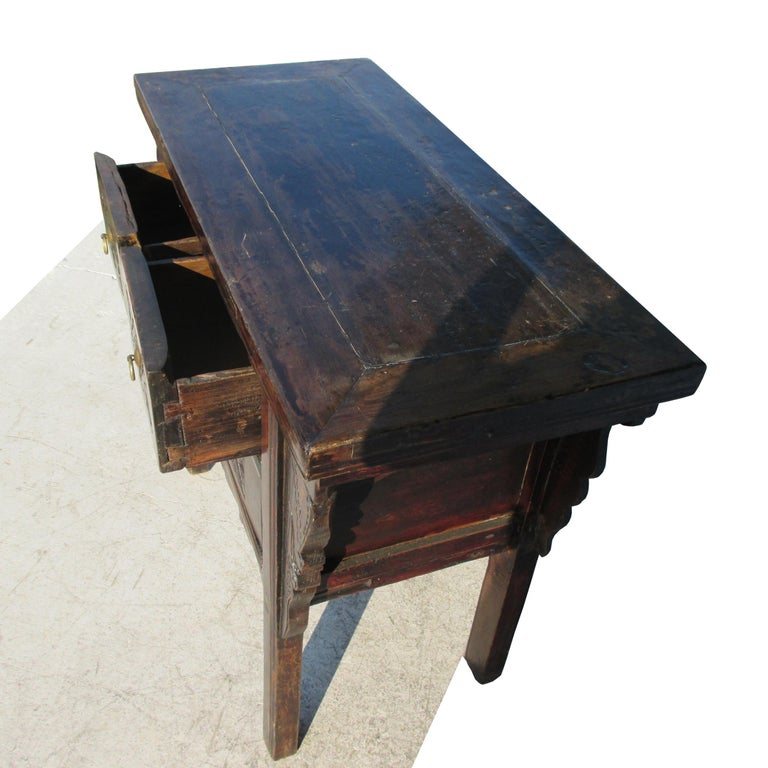 Asian 19th Century Qing Dynasty Alter Console Table For Sale