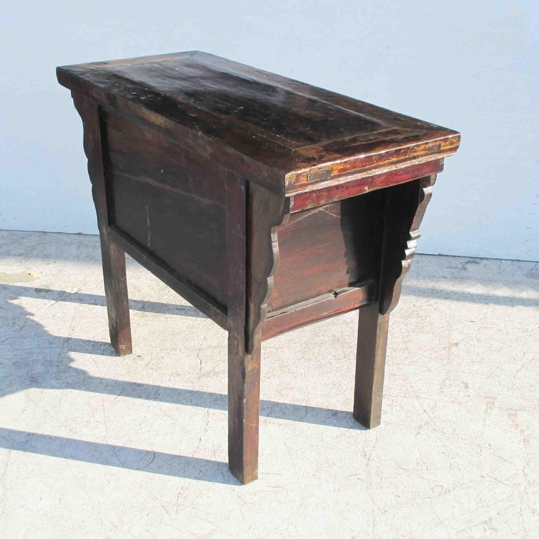 Teak 19th Century Qing Dynasty Alter Console Table For Sale
