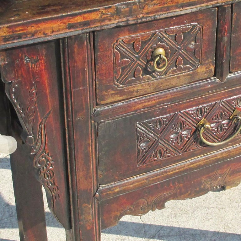 19th Century Qing Dynasty Alter Console Table For Sale 1