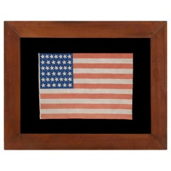 39 Canted Stars on an Antique American Flag