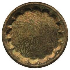 Islamic Hammered Brass Decorative Plate