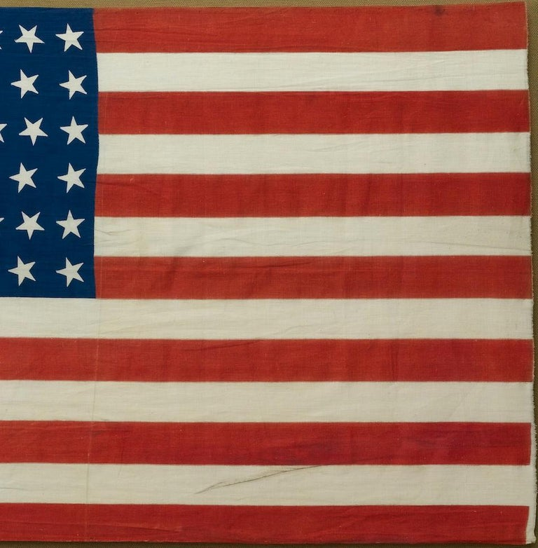 39-Star Antique American Flag with 'Whimsical' Star Pattern, 1889 In Good Condition For Sale In Colorado Springs, CO
