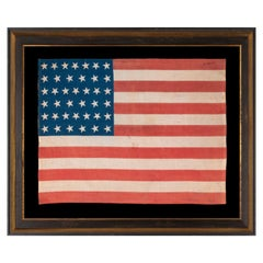 39 Star American Flag with Both Dancing and Canted Positioned Stars