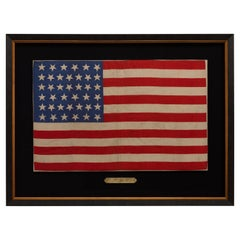39-Star Antique American Silk Flag, 1889