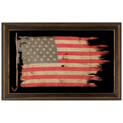39 Star Antiques American Flag with Stars in a Tumbling Pattern