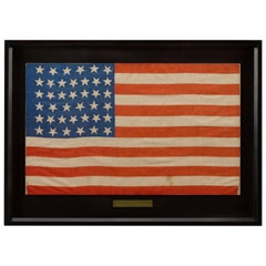 """39-Star """"Unofficial"""" American Parade Flag Whimsical Star Pattern circa 1877-1889"""