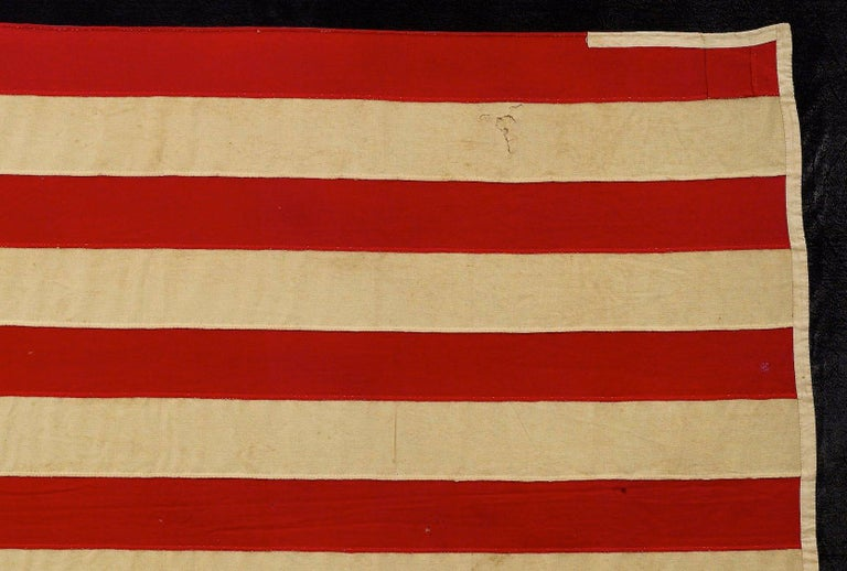 Late 19th Century 39-Star American Flag, Hand-cut and Sewn, Antique