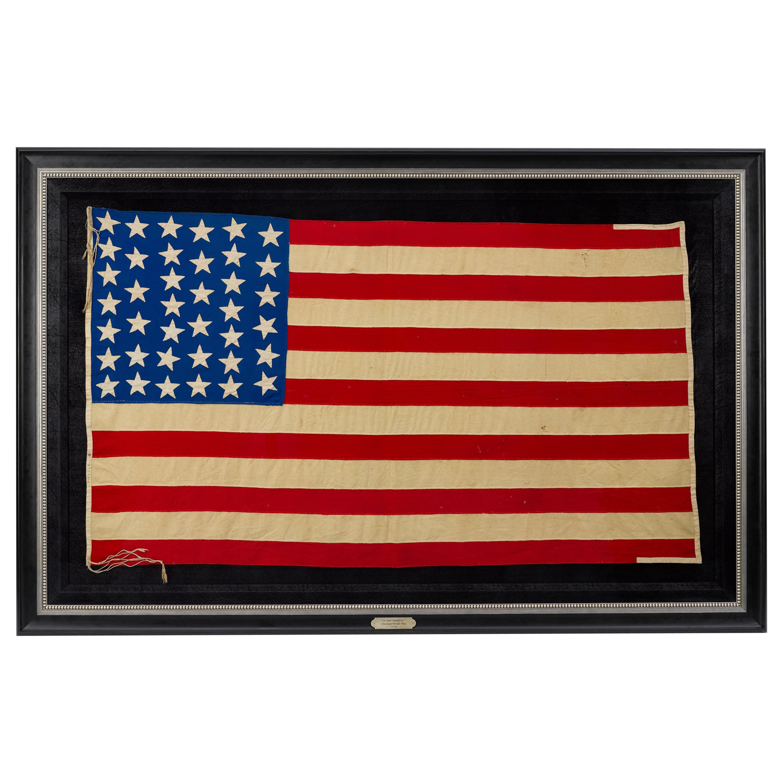 "39-Star American Flag, Hand-cut and Sewn, Antique ""Unofficial"" Flag, circa 1889"