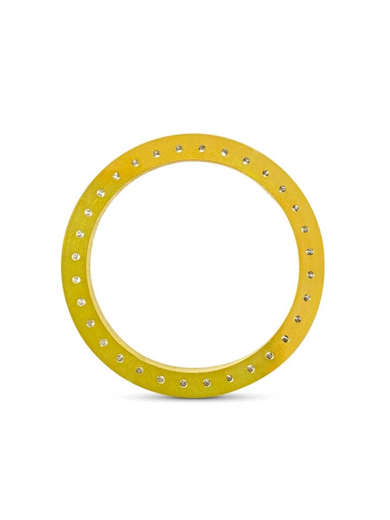 Modern 3.90 Carat VVS Diamond Bezel Watch Bezel for Rolex For Sale