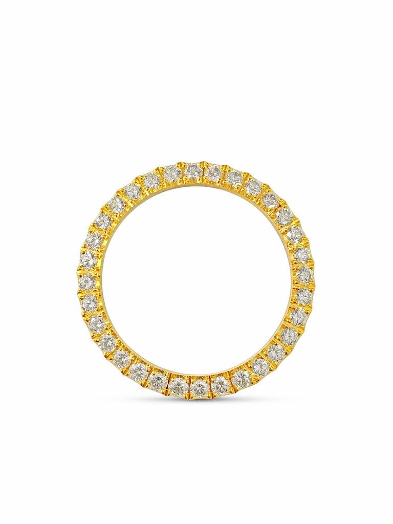 Round Cut 3.90 Carat VVS Diamond Bezel Watch Bezel for Rolex For Sale