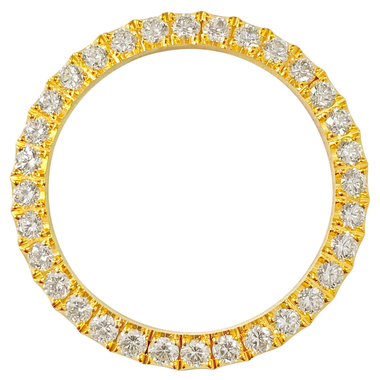 3.90 Carat VVS Diamond Bezel Watch Bezel for Rolex