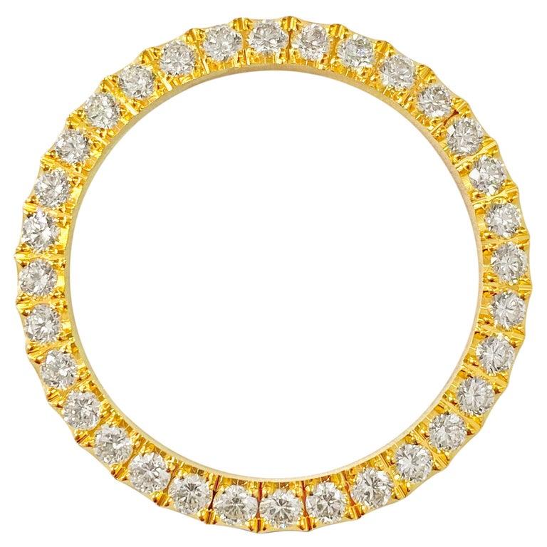 3.90 Carat VVS Diamond Bezel Watch Bezel for Rolex For Sale