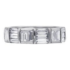 3.90 Carat Platinum Diamond Eternity Band