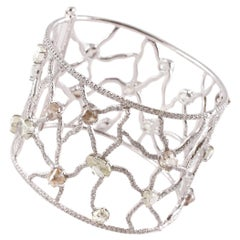 """39.31 Ct Diamond Cuff From """"The Sodwana Collection"""" by """"Diamonds In The Rough"""""""
