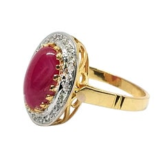 3.94 Carat Ruby and Diamond Ring