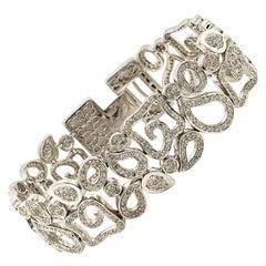 3.98 Carat White Diamond High Fashion Bracelet