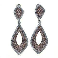 3.99 Carat Natural Pink Diamond Fashion Diamond Earrings