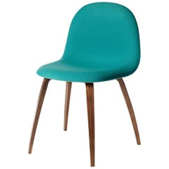 3D Dining Chair, Front Upholstered, Wood Base, American Walnut