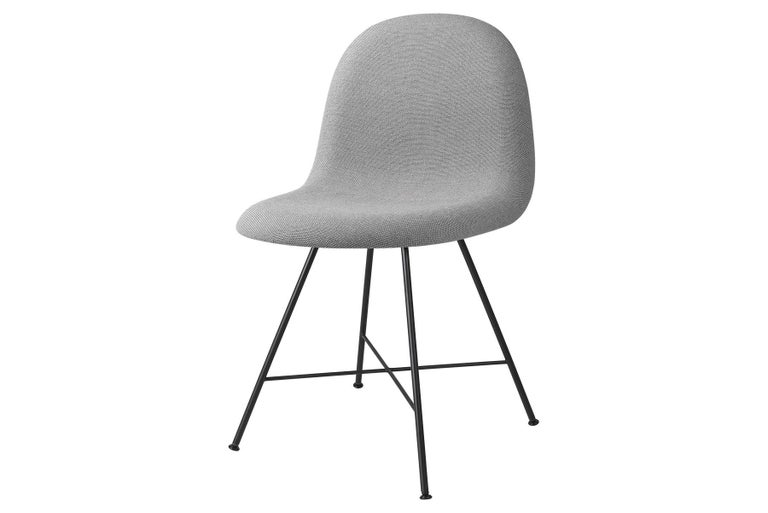 Mid-Century Modern 3D Dining Chair, Fully Upholstered, Center Base For Sale