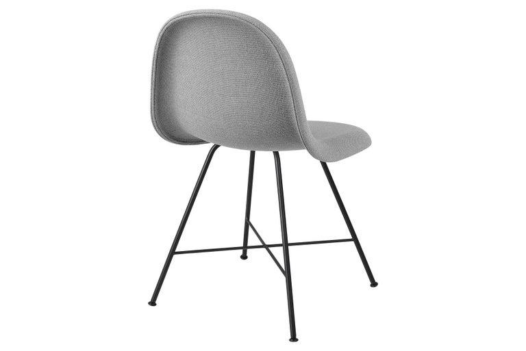 Danish 3D Dining Chair, Fully Upholstered, Center Base For Sale