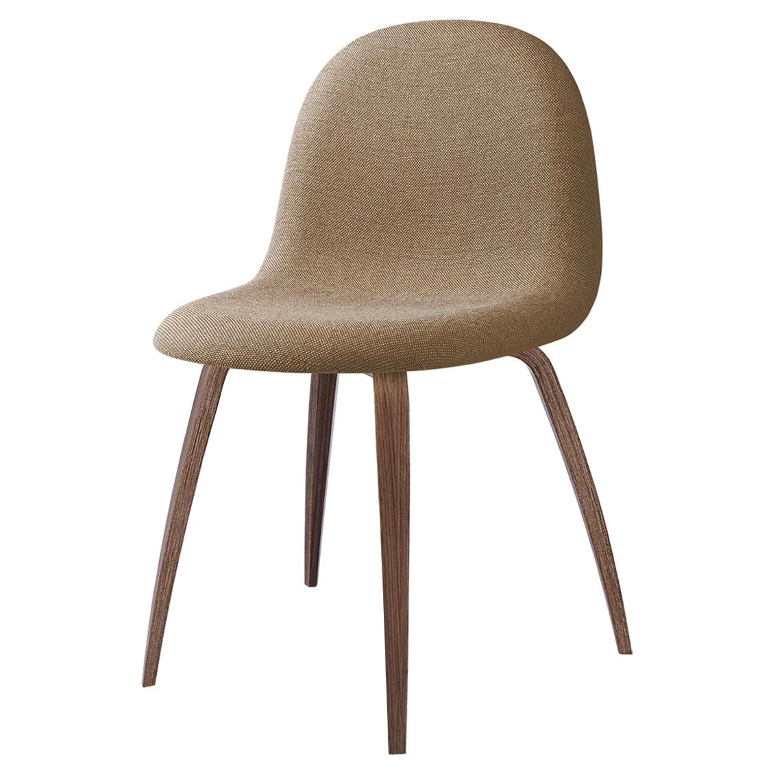 3D Dining Chair, Fully Upholstered, Wood Base, American Walnut