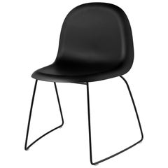 3D Dining Chair, Un-Upholstered, Sledge Base, Stackable