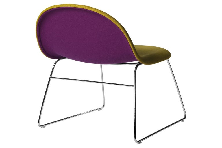 One of Gubi's most innovative products, the Gubi lounge chair, is designed by Boris Berlin and Poul Christiansen of Komplot design. The Gubi lounge chair is an evolution of the Gubi chair which was the first furniture design to be based on the
