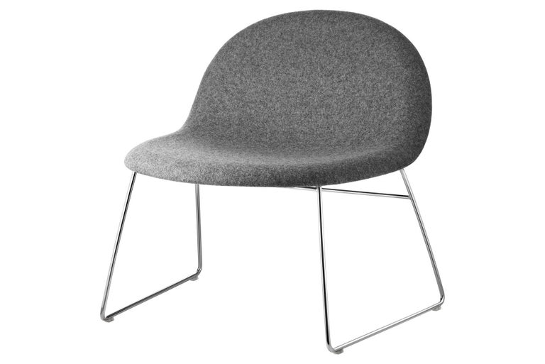 Mid-Century Modern 3D Lounge Chair, Un-Upholstered, Sledge Base, Chrome For Sale