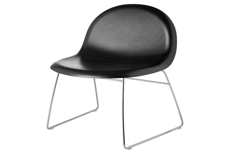 20th Century 3D Lounge Chair, Un-Upholstered, Sledge Base, Chrome For Sale