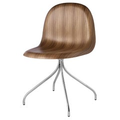 3D Meeting Chair, Un Upholstered, Chrome Swivel Base