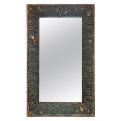 3D Mirror Made from Egg & Dart Copper Building Facade Turn of the Century