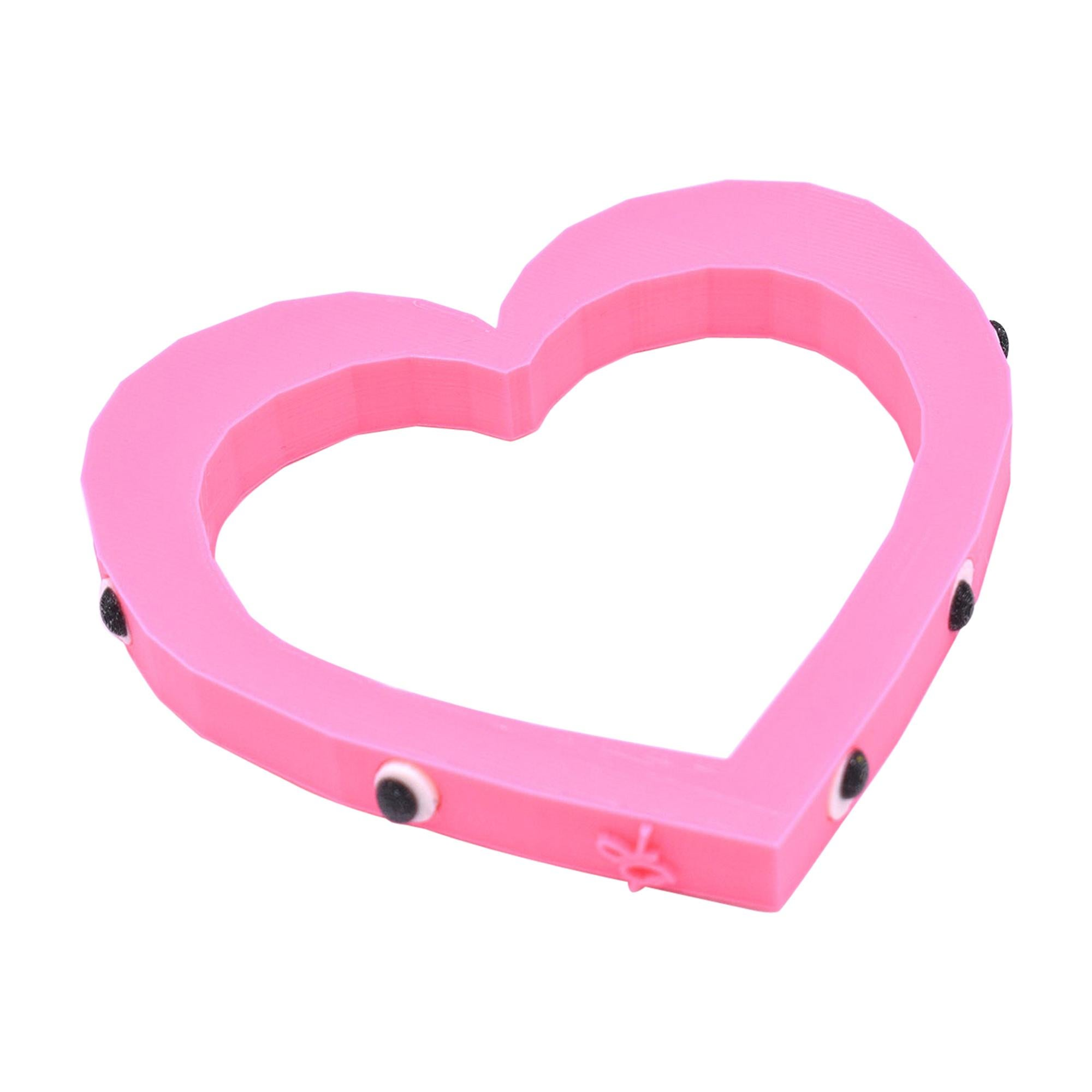 3d Printed Foolish Heart Bangle Pink