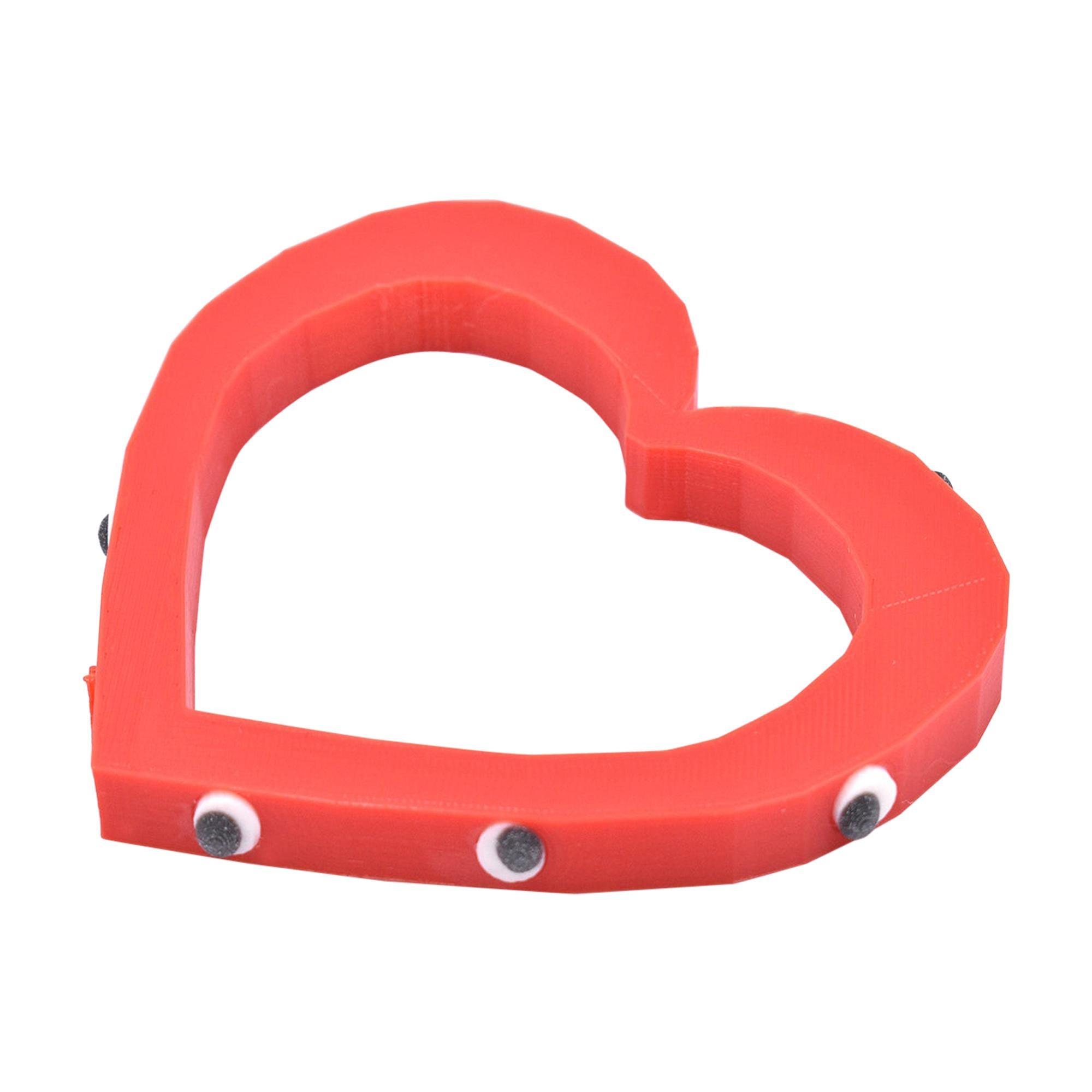 3d Printed Foolish Heart Bangle Red